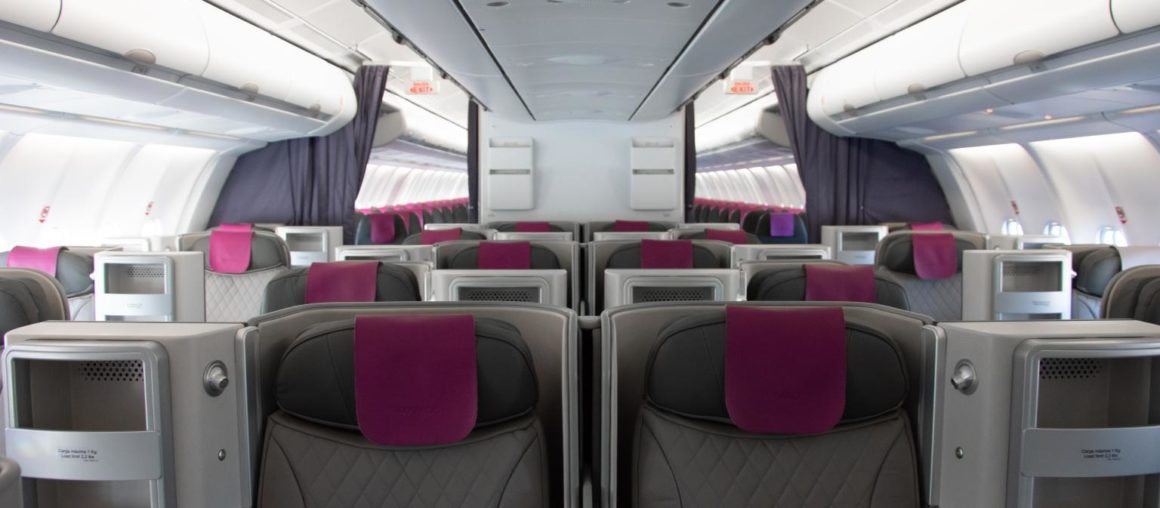 AIRE Centre of Excellence refreshed WAMOS AIR A330s BC seats